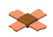 copper-bar-to-copper-bar-full-cross-joint-graphite-mould